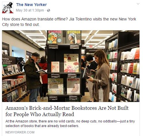 Brick and Mortar Bookstores