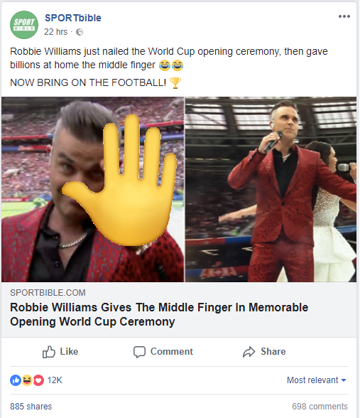 Robbie's Middle Finger
