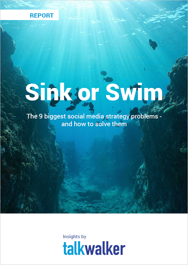 social media strategy templates sink or swim cover
