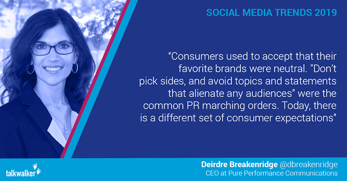 Social media trends 2019 Deirdre Breakenridge