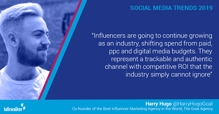 Social media trends 2019 Harry Hugo