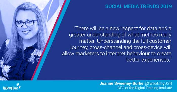 Social media trends 2019 Joanne Sweeney-Burke