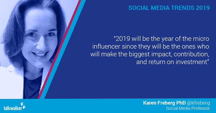Social media trends 2019 Karen Freberg