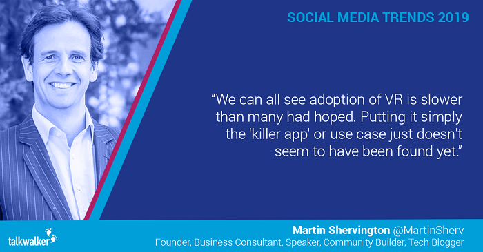 Social media trends 2019 Martin Shervington