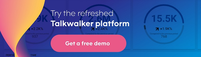 Talkwalker refresh - Free demo CTA