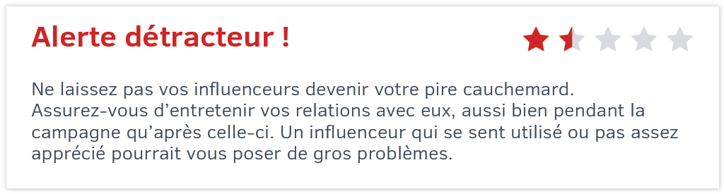 influenceurs entretenir la relation