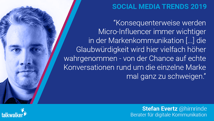 Stefan Evertz Social Media Trends 2019