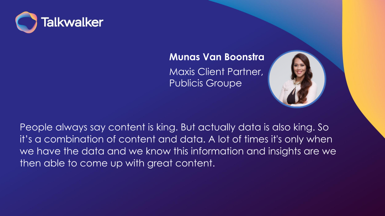 Munas Van Boonstra Publicis Groupe content marketing and data