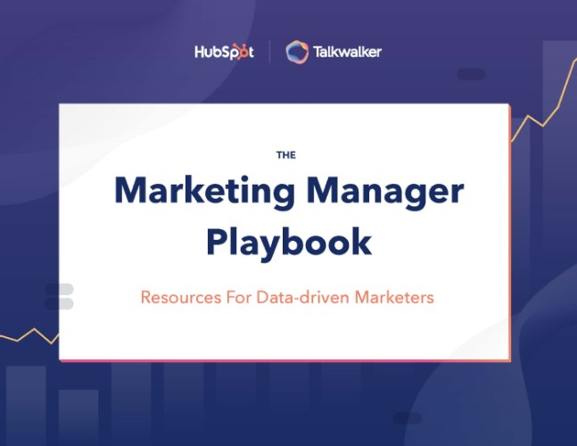HubSpot and Talkwalker Marketing Manager Playbook cover