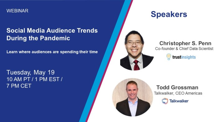 Promo image Talkwalker and Chris Penn audience trends webinar