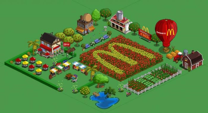 Farmville McDonalds ad integration