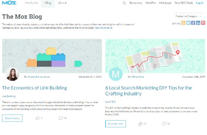 best digital marketing blog: MOZ