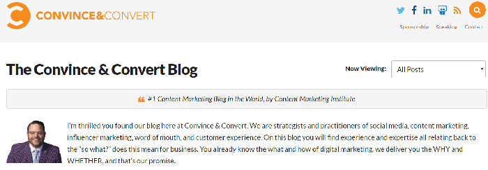 best digital marketing blog: Convince and Convert