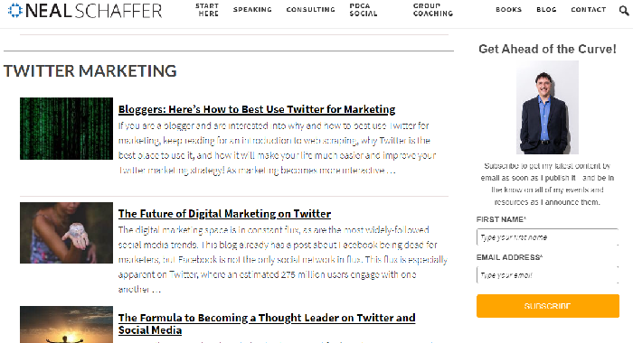 best digital marketing blog: Neal Schaffer
