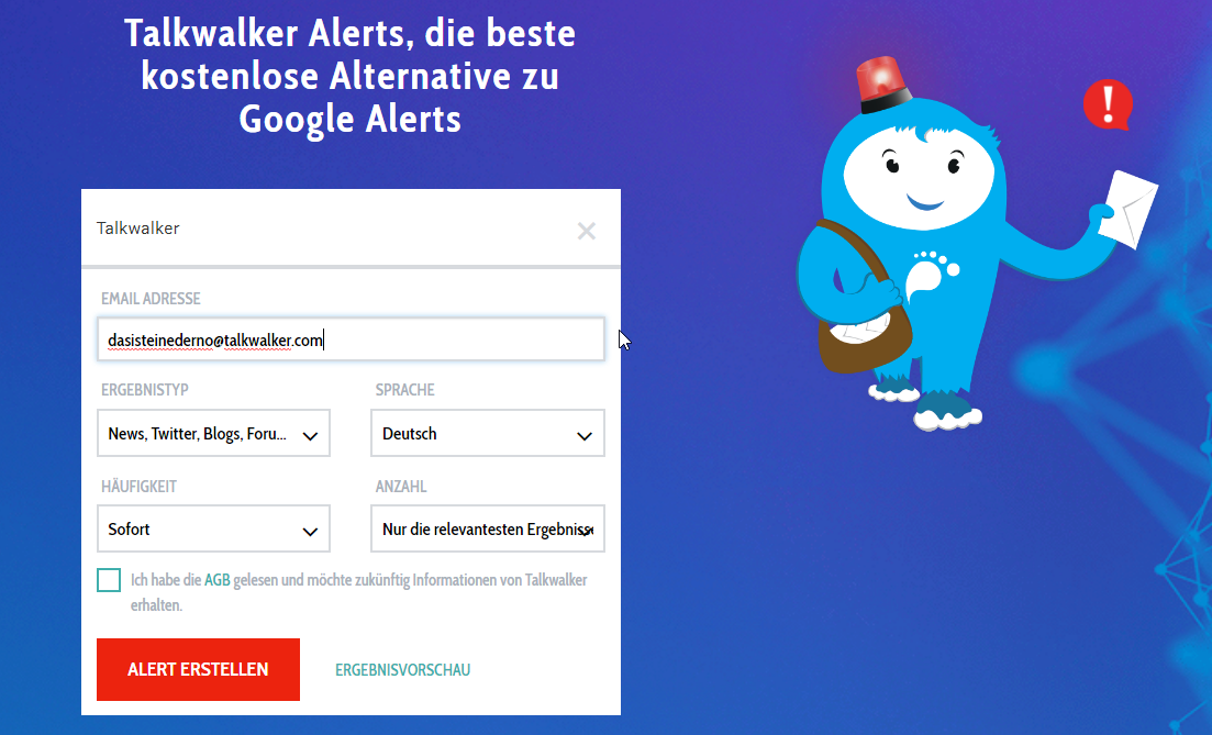 Talkwalker alerts
