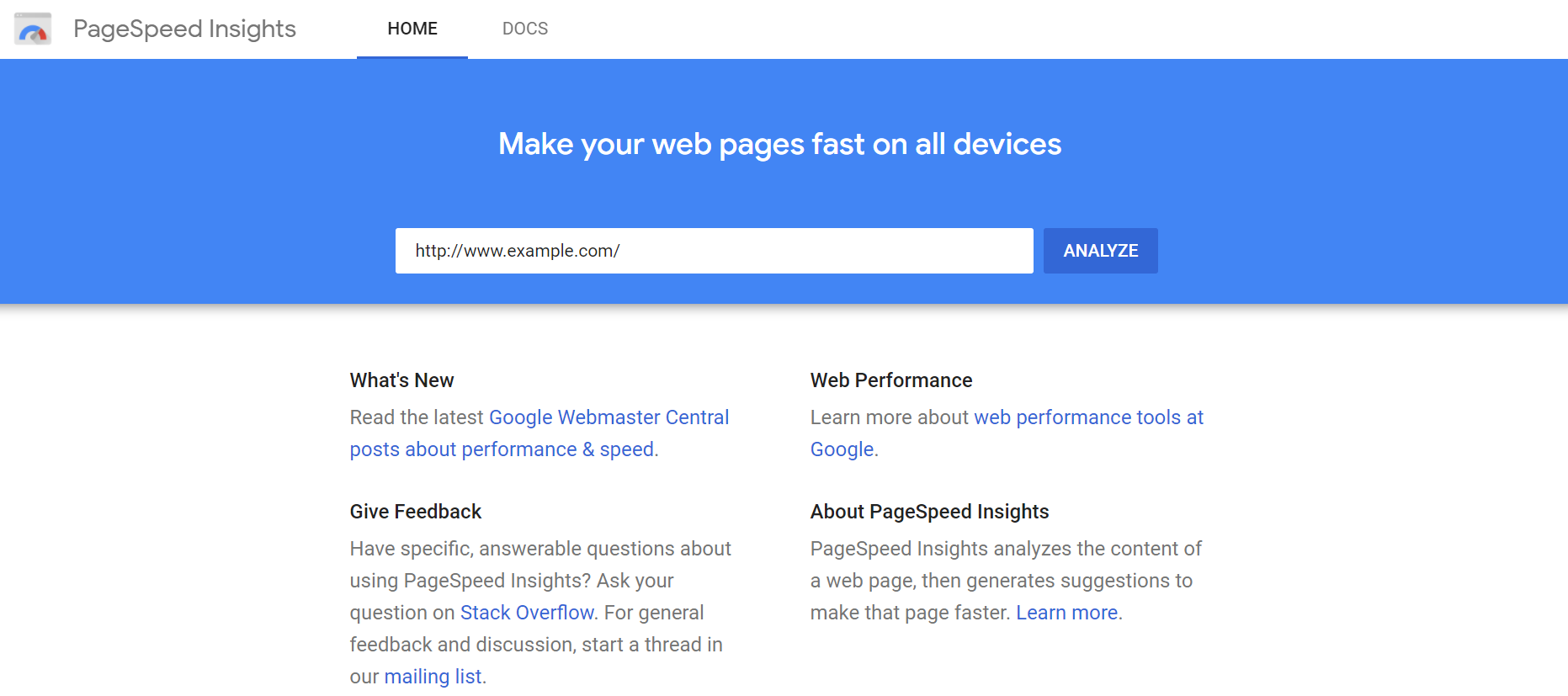 Make your page faster with suggestions from PageSpeed Insights