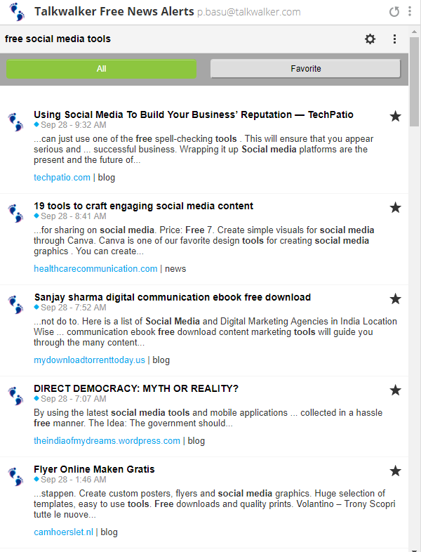here is what the hootsuite integration for talkwalker alerts looks like