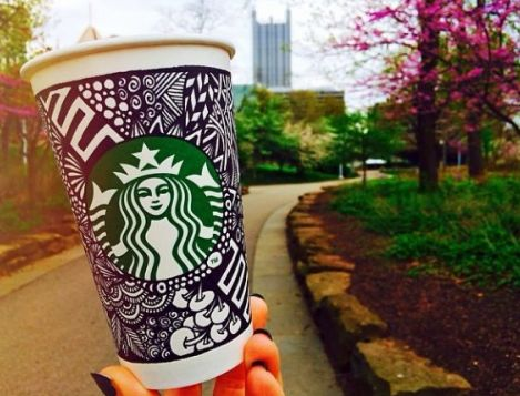 Starbucks decorated cup