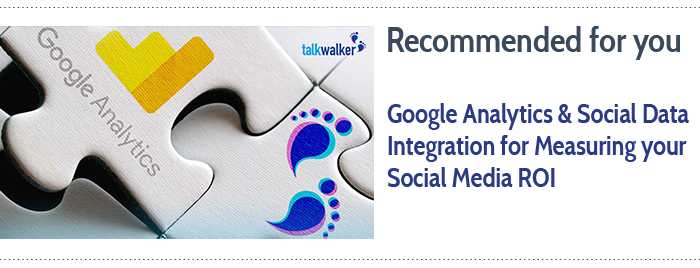google analytics & social data report