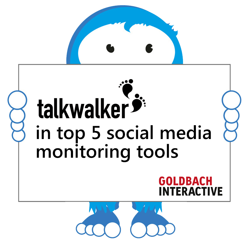 Talkwalker ranked in 2013 top 5 best social media monitoring and online reputation management tools