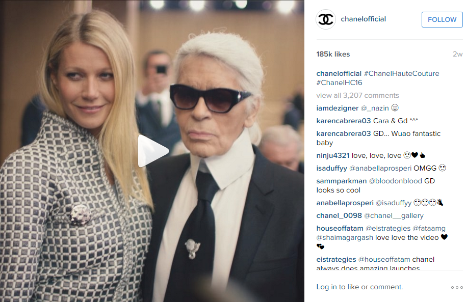 Chanel Instagram video